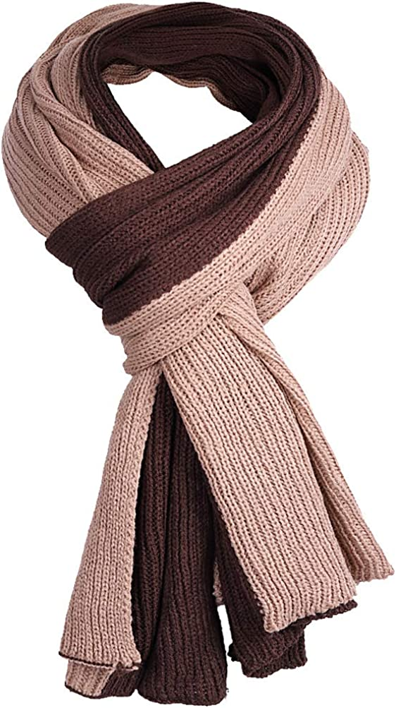 FORBUSITE Mens Winter Knit Scarf Oversize Scarves Shawl E5002 Accessories Cold  Weather Scarves