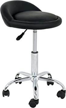Adjustable Drafting Stool Task Chair for Shop Kitchen Medical Pedicure Salon Chair Round for Home Office Spa Shop Desk Ellymi Rolling Stool Chair with Wheels and Back
