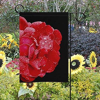 LAZEN Rose Polyester Garden Flag Decoración de césped de Dos Lados para Patio de Bodas 12x18 Pulgadas: Amazon.es: Jardín