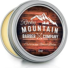 Beard Balm - Rocky Mountain Barber - Canadian Made 100% Natural - Premium Wax Blend with Cedarwood Scent, Nutrient Rich Bees Wax, Jojoba, Tea Tree, Coconut Oil