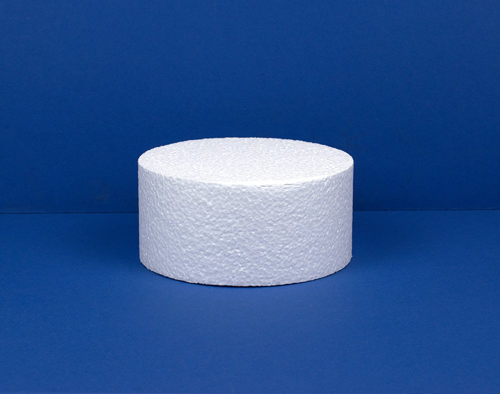 15cm Polystyrene Deep Cake Dummy to Decorate | Styrofoam Shapes for Crafts Crafty Capers