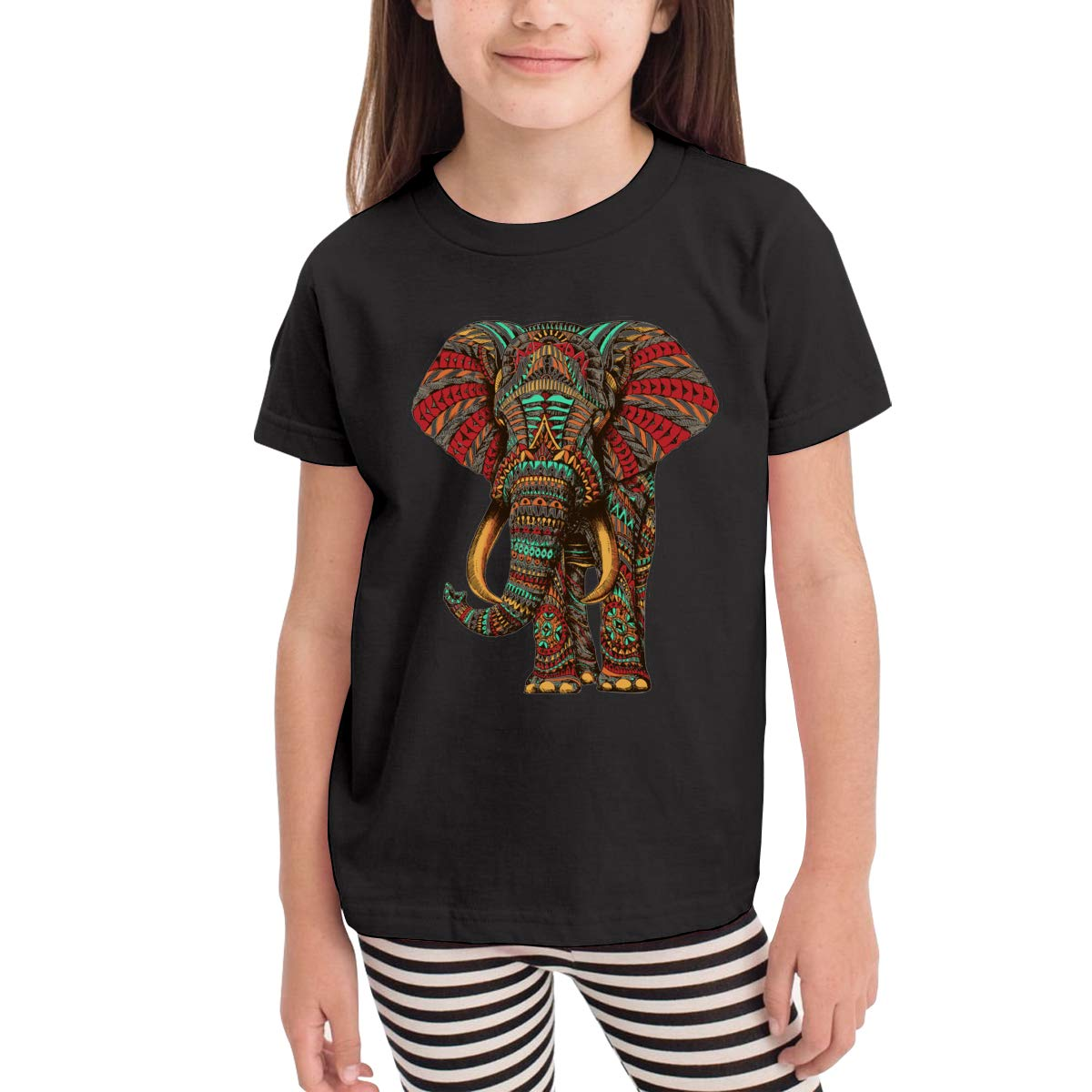 Onlybabycare Elephant Mandala 100/% Cotton Toddler Baby Boys Girls Kids Short Sleeve T Shirt Top Tee Clothes 2-6 T