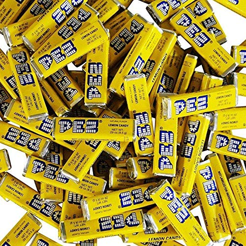 Pez Candy Single Flavor 2 Lb Bulk Bag (Lemon) Yellow Candy ‰Û_