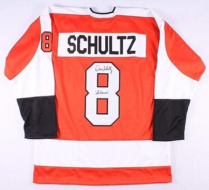 hot sale online 90de9 4ecbc Dave Schultz Autographed Signed Philadelphia Flyers Jersey ...