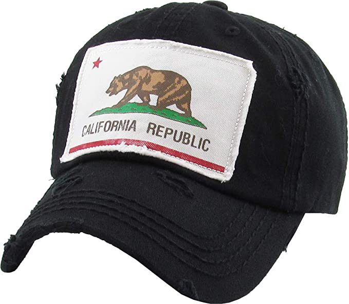KBVT-1060 BLK California Republic Collection Dad Hat Baseball Cap Polo  Style Adjustable 6990fd2a05f1