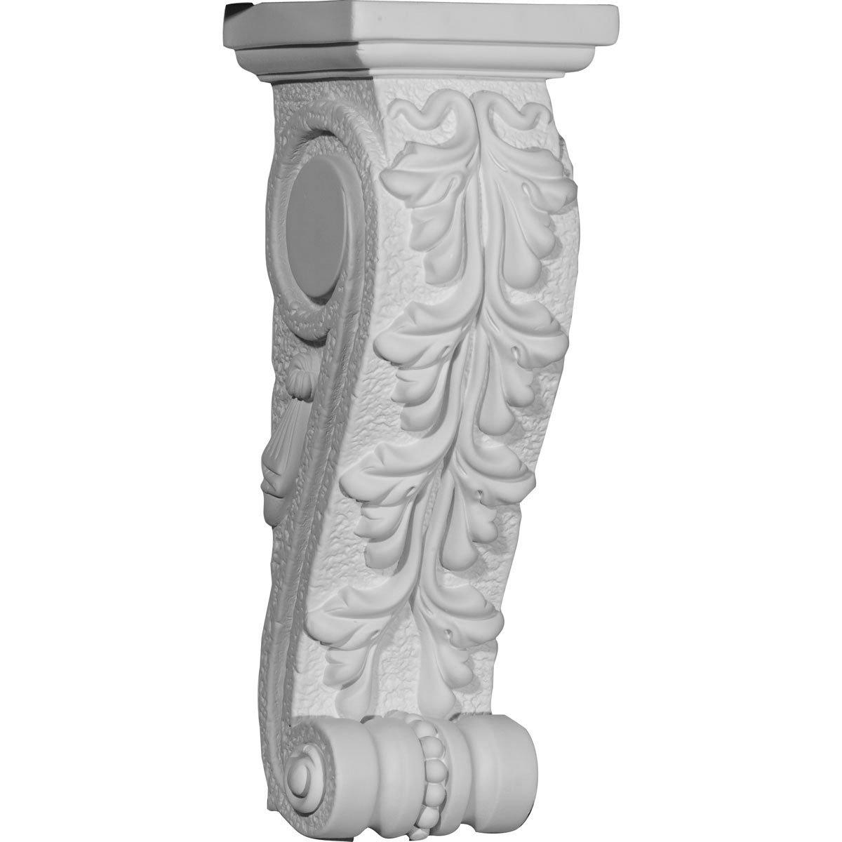 Ekena Millwork COR04X04X12NE-CASE-2 4 1//4 inch W x 4 3//8 inch D x 12 3//4 inch H Needham Corbel , 2-Pack