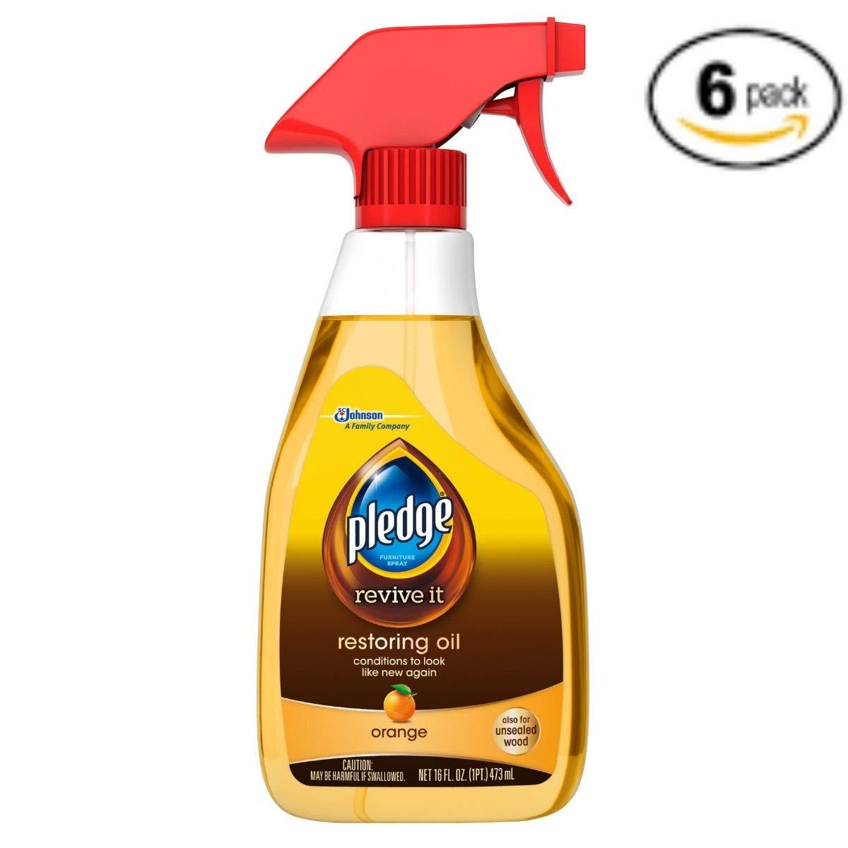 Pledge Restoring Oil Trigger, Orange, 16 Fluid Ounces (6 Pack)