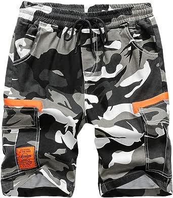 Mingdoo Pantalón Corto para Niño Shorts Camuflaje de Verano con Bolsillos y Cintura Elastica Pantalones Cortos Cargo