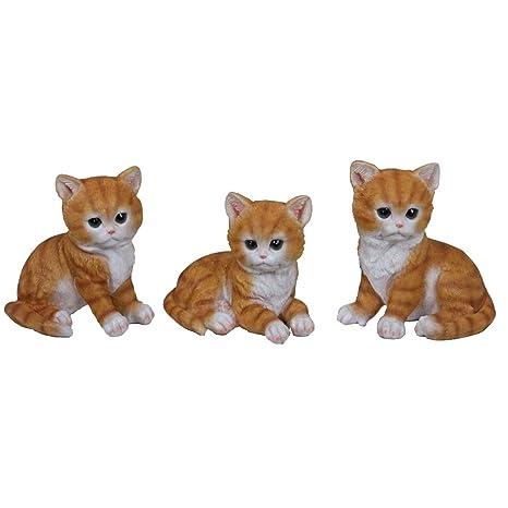 varilando® Jardín Figura de Trio en 3 variantes de cordero Trio Gatos de Trio Búhos ...