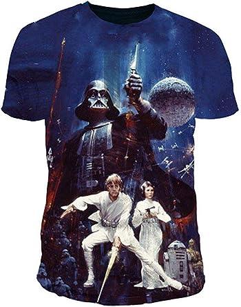 Star Wars - Camiseta - Logotipo - Básico - Cuello redondo ...