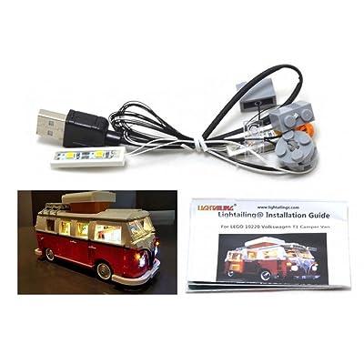 Kit d'éclairage LED pour lego 10220 Volkswagen T1 Camper Van aussi lego 21001 kit d'éclairage lego Led lumières lego Lumières lego Blocs de construction Lego Compatible