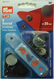 Prym Anorak Druckknopf Druckknöpfe 20mm messing mit Werkzeug 390355