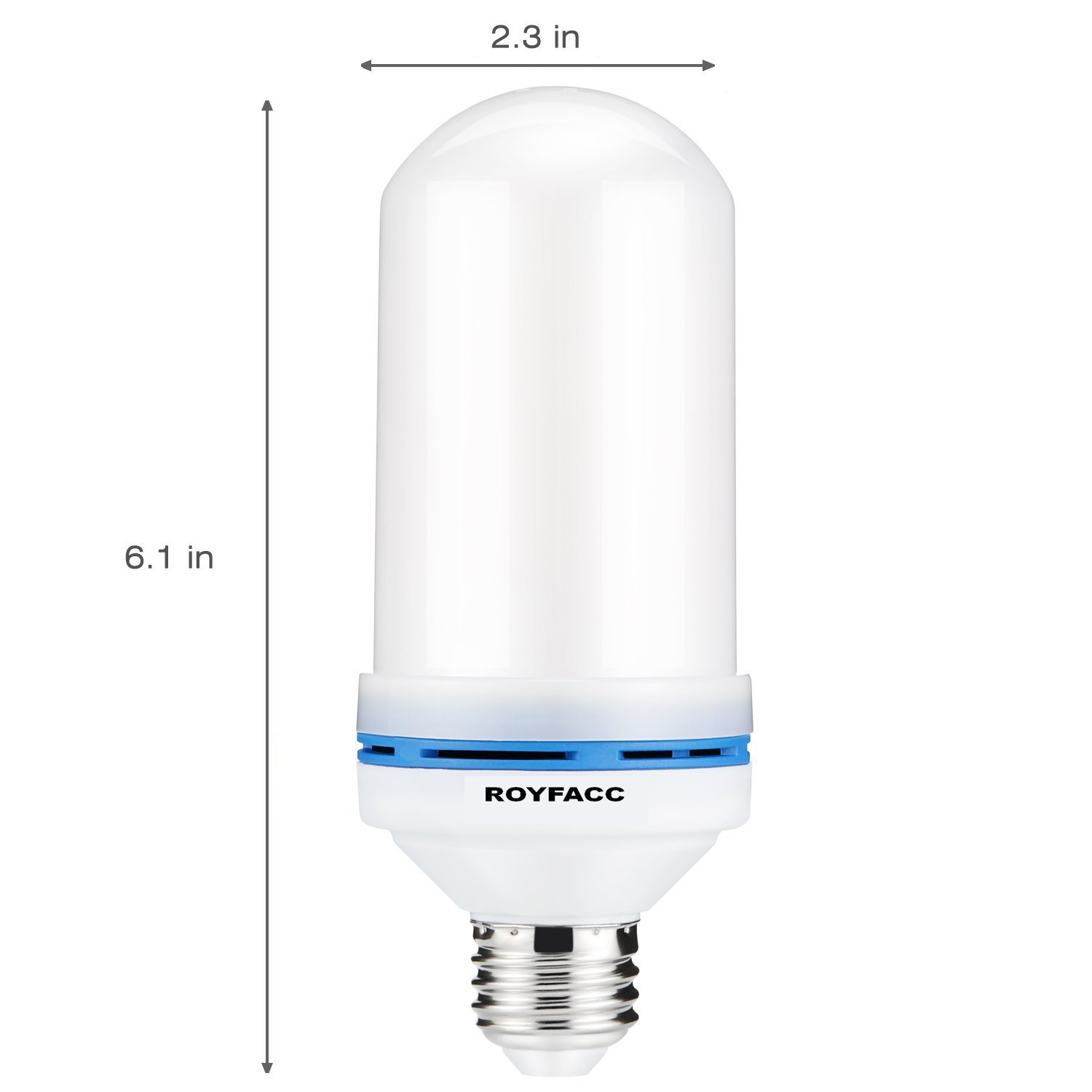 ROYFACC LED Light Bulb Flickering Vintage Torch Light Mood Lamp for Table Lamp with 3 Modes Home Garden Party Pathway Decor E26 Base Flame Effect Light Bulbs