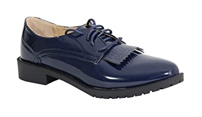By Shoes - Chaussure Plate Style Derbies - Femme - Taille 36 - Blue 5d7da1f4664d