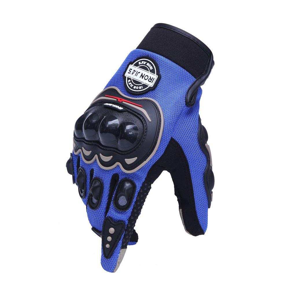 guantes de moto para pantallas t/áctiles resistentes a ca/ídas IRON JIAS Guantes de motos motocicleta para carreras todo terreno XXL, Black