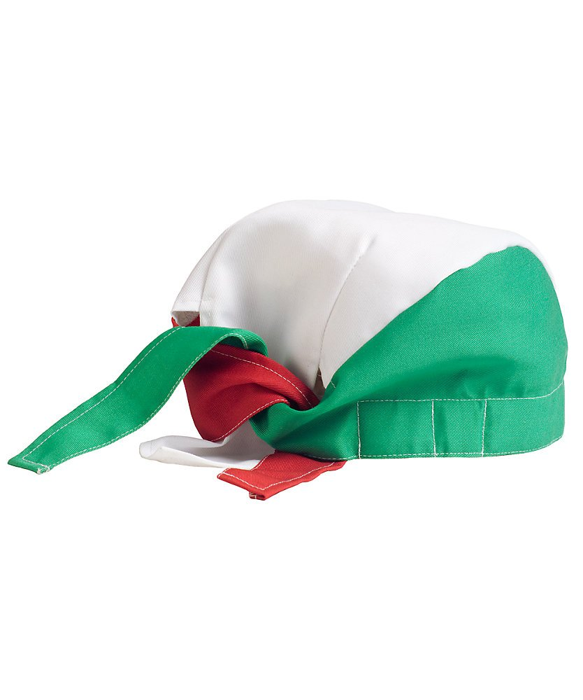 KNG Chef Tie Back Cap, Red Green White by KNG