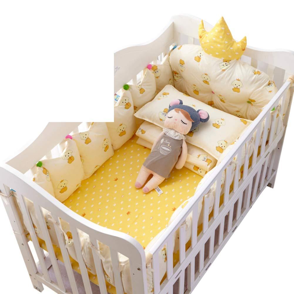 Xxn コットンのリバーシブル ベビー寝具セット,バンパーのすべてのラウンド ユニセックス 無衝突赤ちゃんベビーベッド バンパー パッド入りベビーベッド バンパー2-防止アレルギー 2-A パッケージB   B07KY7G3DG