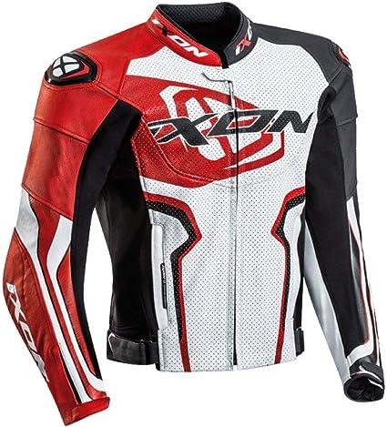 Noir//Blanc//Rouge L Ixon Blouson moto Vortex 2 Jkt NOIR//BLANC//ROUGE