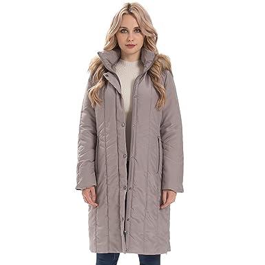 Manteau gris avec fourrure