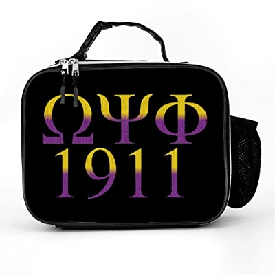 Omega Psi Phi Lunch Bag,Water-Resistant Cooler Pack Food Lunch Box For Girl Boy: Kitchen & Dining