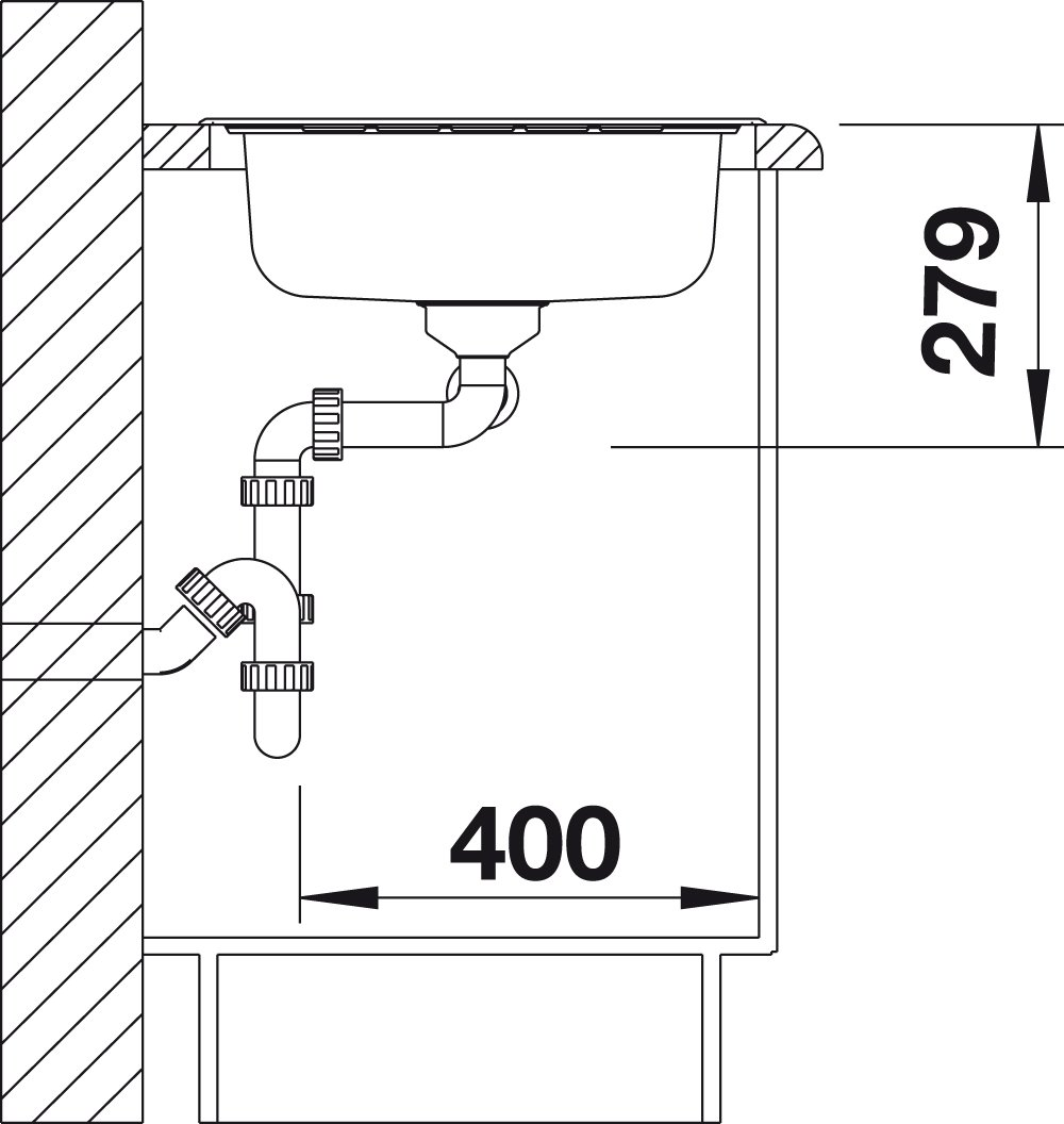 Inox brosse 514798 Livit 8S /Évier 2 Cuves Blanco 1 /Égouttoir