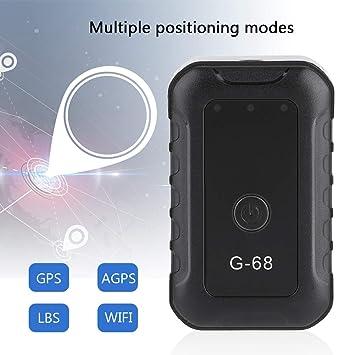 Eboxer Mini GPS Posicionador Recargable, AGPS LBS WiFi Tracker con Botón SOS Cable USB Localizador