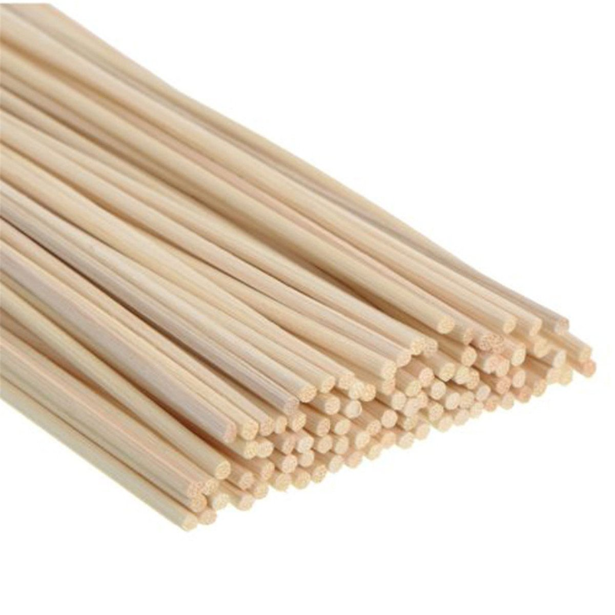 LKXHarleya 50PCS Reed Sticks Natural Rattan Reed Diffuser Replacement Stick 7 Inches3.5MM