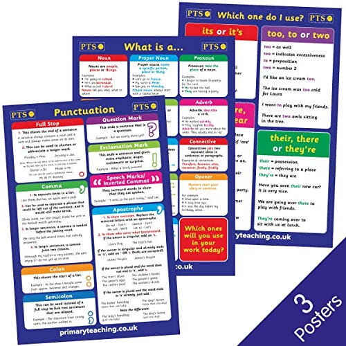3 Punctuation English Literacy Childrens Pupils School Classroom Display Wall Posters Pack A2 Primary Teaching Services