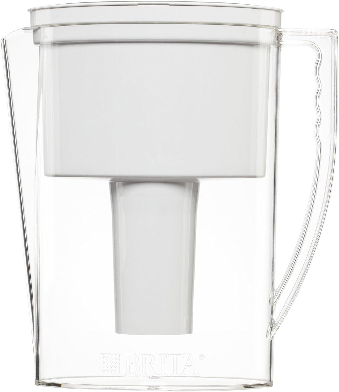 Brita 42629 Slim Water Filter Pitcher, 5 Cup food, White