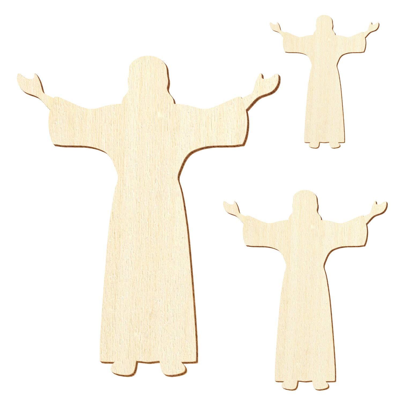 Holz Jesus Christus 3-50cm Streudeko Basteln Deko Wanddeko, Wanddeko, Wanddeko, Pack mit 50 Stück, Größe 13cm B07PX3FMPG | In hohem Grade geschätzt und weit vertrautes herein und heraus  58de6e