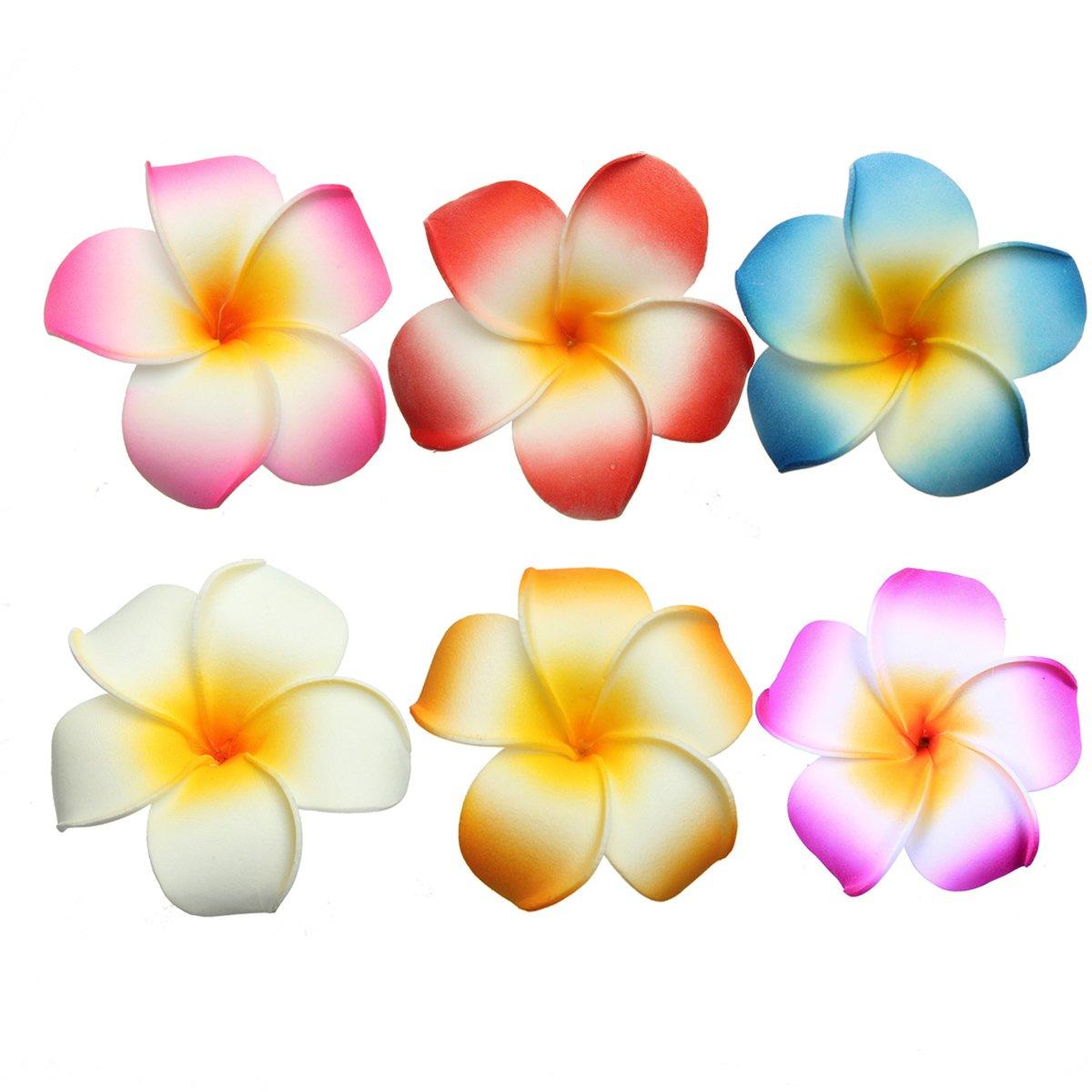 hawaiian plumeria 7 cm blume haar clips hochzeit strand