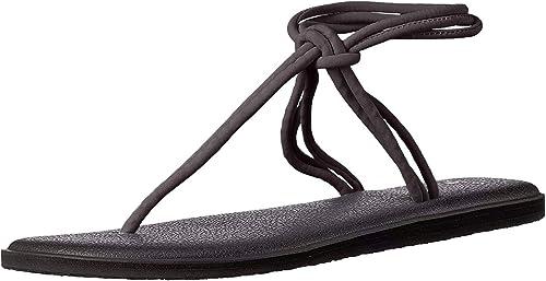 Sanuk Damen Yoga Sunshine Sandale, schwarz, Medium: Amazon