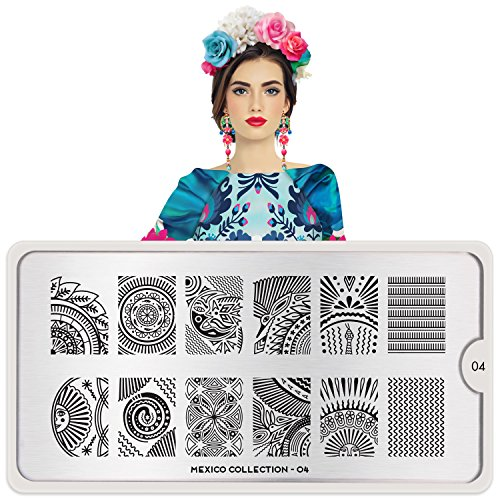 MoYou-London Nail Stamping Plate Mexico Collection 04 Shipping within 24h US Stock
