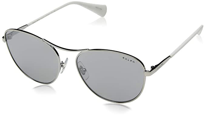 9e78bbcac4d5 Image Unavailable. Image not available for. Color: Ralph by Ralph Lauren  Women's 0ra4126 Oval Sunglasses silver ...