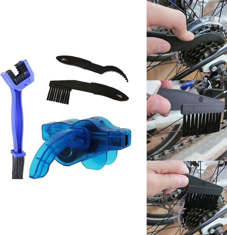 cadenas limpias OURLITIME Kit limpiador de cadena de bicicleta cepillo de mantenimiento de cepillo de limpieza con f/ácil y r/ápido para bicicletas de carretera bicicleta de monta/ña ciclismo