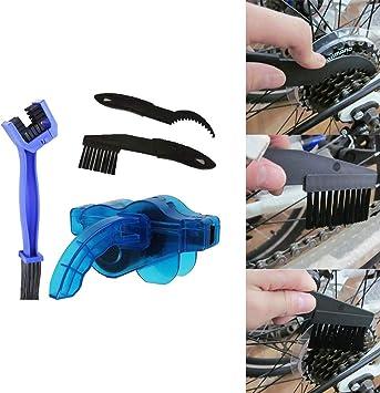 LOREMYI Kit de limpieza de cadena de bicicleta cepillo limpiador ...