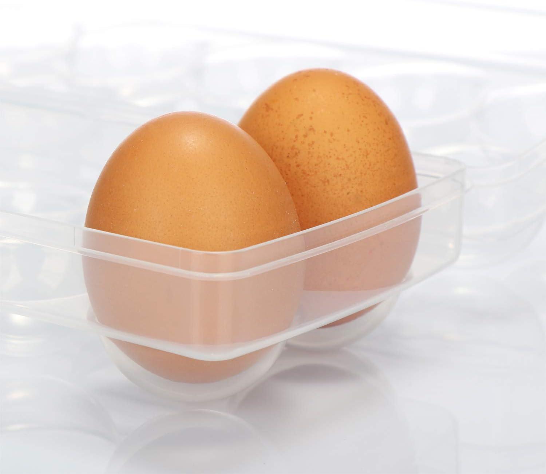 Contenitore per Uova Valigetta Porta Uova in plastica con pi/ù Griglie per Frigorifero 12 Grid Grey Genlesh