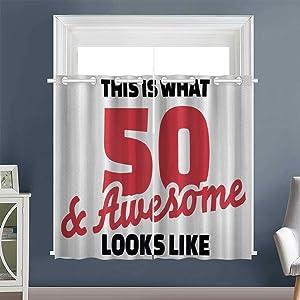 "Linhomedecor Design Darkening Curtains 50 Grommet Image Darkening Curtains Set of 2 Panels Multicolor (1 Pair, 52"" Width x 63"" Length Each Panel)"
