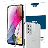 Moto G Stylus 2021 Screen Protector + Camera Lens Protectors by YEYEBF, [2 Pack] Tempered Glass Screen Protector [Bubble-Free
