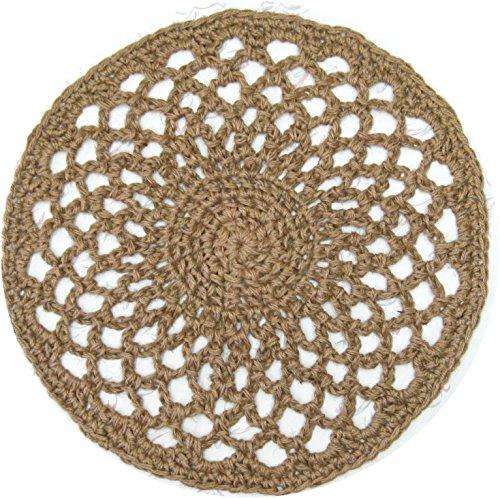 Jute Doily Rug - Handmade Openwork Crochet - 27