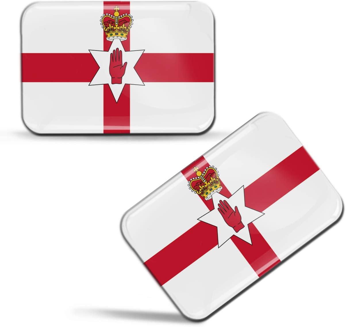 Biomar Labs 2 X Aufkleber 3d Gel Silikon Stickers Nordirland Nordirische Flagge Hand Der Ulster Rot Fahne Northern Ireland Irish Flag Auto Motorrad Fahrrad Fenster Tür Pc Tablet Laptop F 77 Amazon De