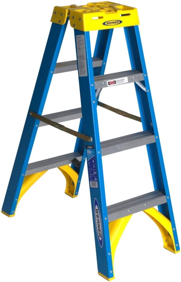 Werner T6004 250-Pound Duty Rating Fiberglass Twin Stepladder, 4-Foot by Werner: Amazon.es: Bricolaje y herramientas