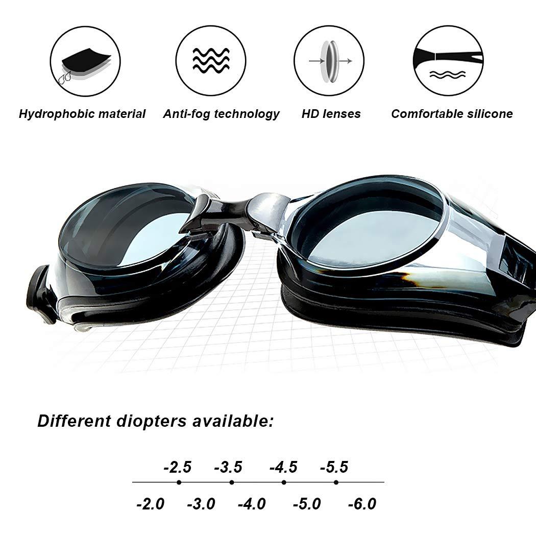 Precio//Piece Idea de regalo classicdesing correctivas Myopic /óptico Swim Goggle dioptr/ías -2.0/A 6,0