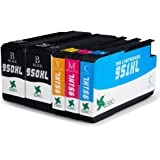 EBBO 1Set+1Black High Yield Compatible Ink Cartridge Replacement for 950XL 951XL, Latest Chips, Compatible with Officejet Pro 8610 8620 8600 8100 8630 8640 8660 8615 8625 251dw 271dw 276dw Printer