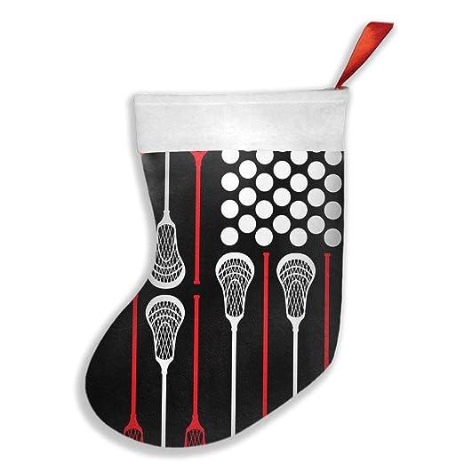 Amazon.com: Calcetines de Navidad con bandera de Lacrosse ...