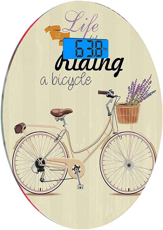 Escala digital de peso corporal de precisión Ronda Bicicleta ...
