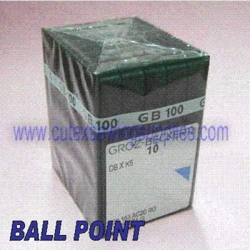 - 100 Groz Beckert DBXK5 Ball Point Embroidery Sewing Machine Needles (Size 75/11)