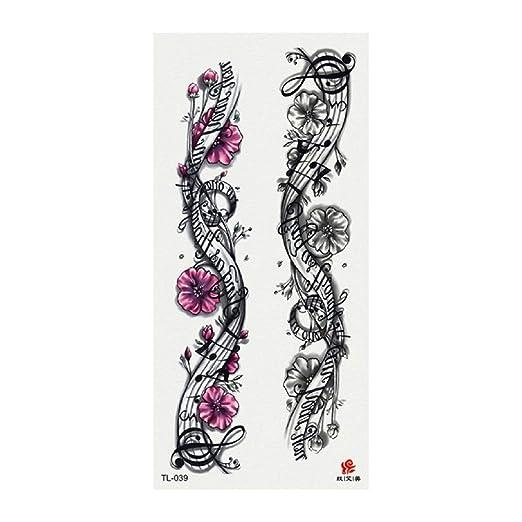 tzxdbh 3 Unids-Nuevo 3D Flor Etiqueta Engomada del Tatuaje Moda ...