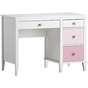 Little Seeds Monarch Hill Poppy Desk, White/Pink