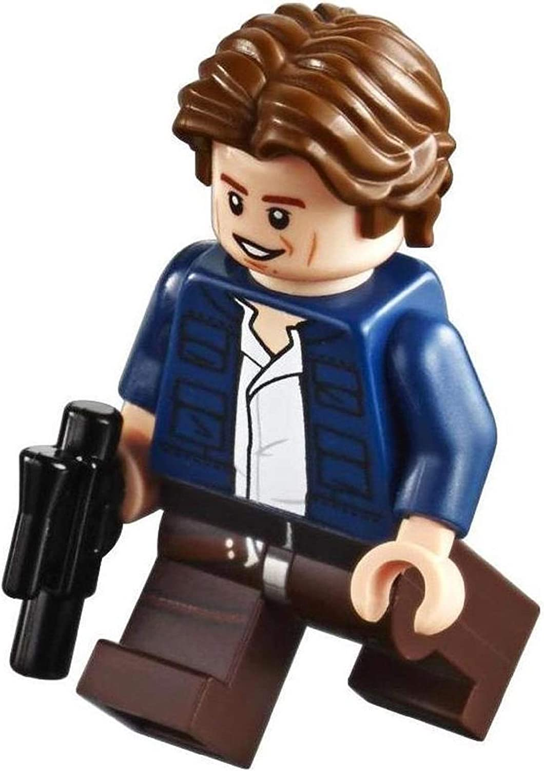 LEGO Parts: Star Wars Han Solo Minifig with Blaster - from UCS Slave 1